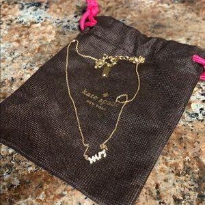 "Kate Spade ""Mrs."" necklace"